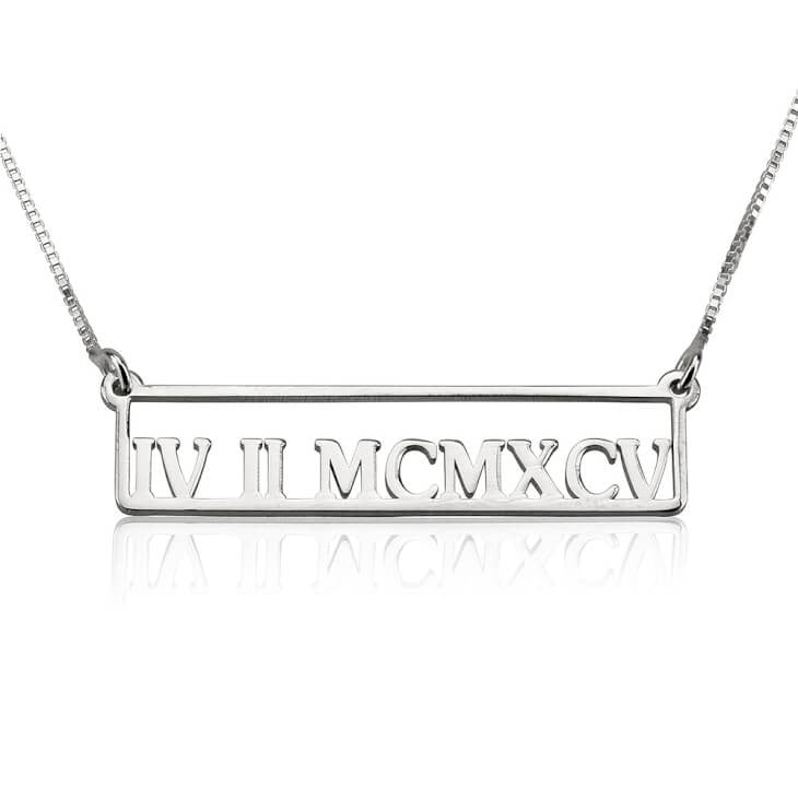 Framed Roman Numeral Necklace