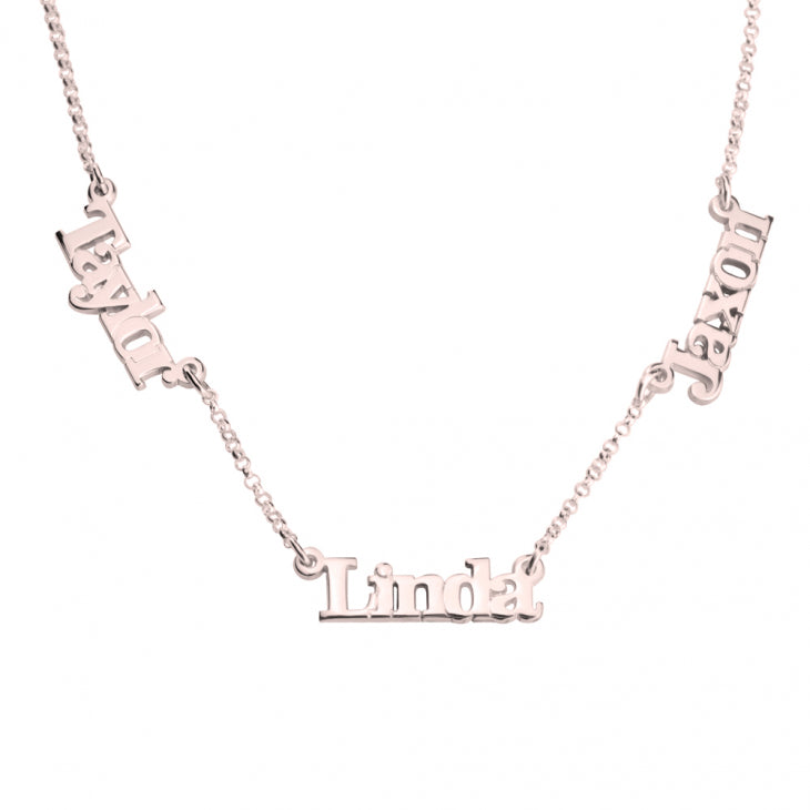 Three Link Name Necklace