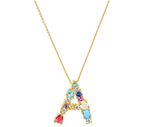 Crystal Initial Necklace