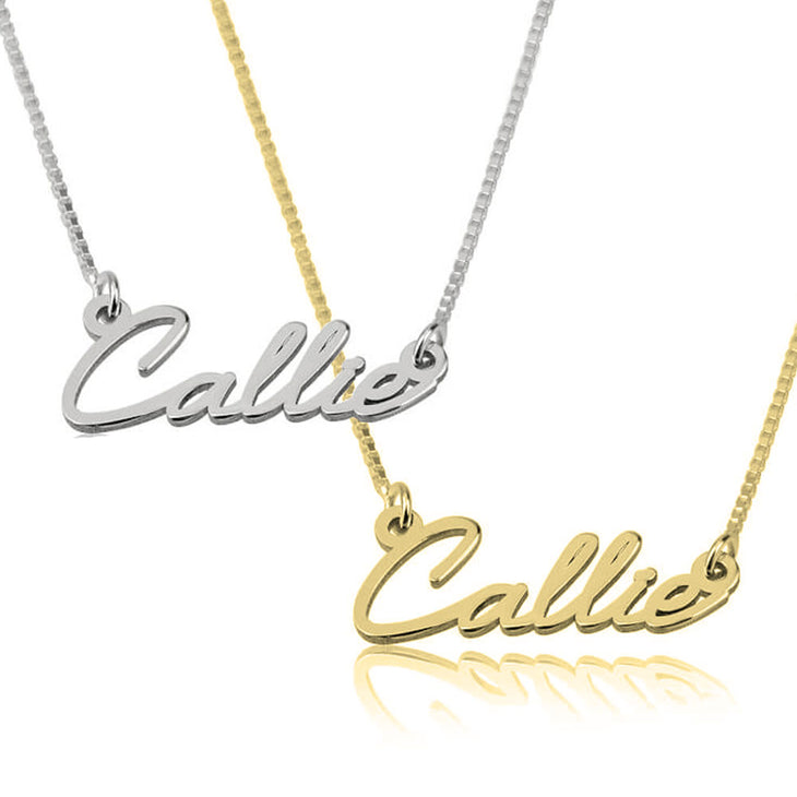 Dainty Tiny Cursive Necklace