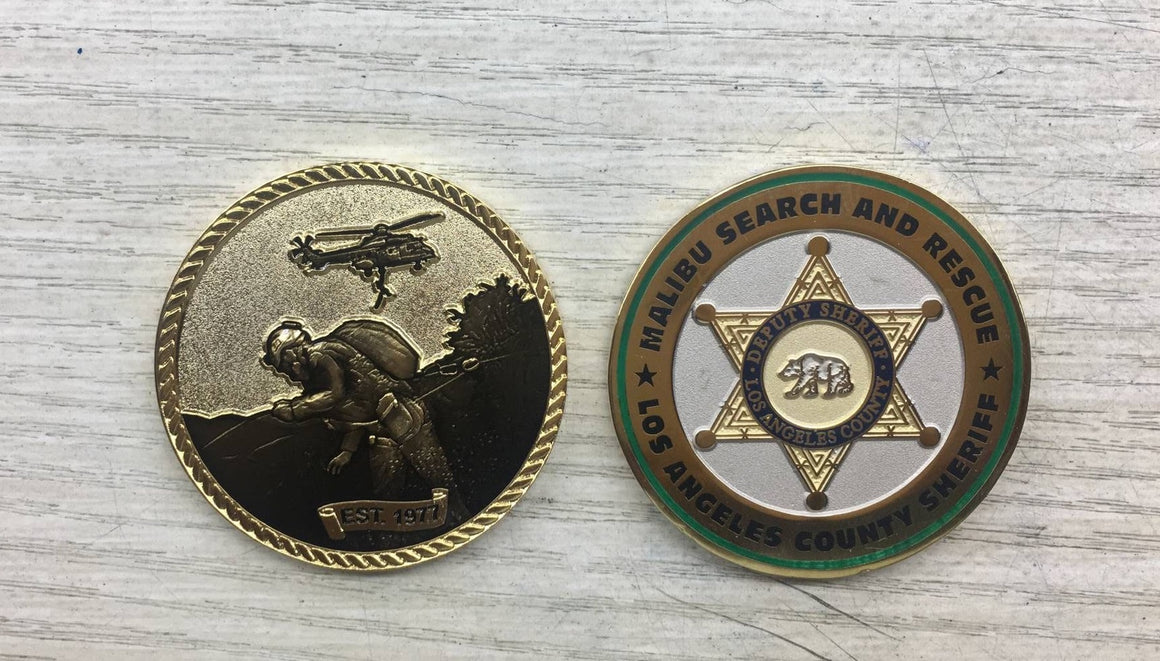 2018 Malibu Search and Rescue Challenge Coin