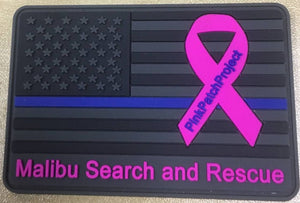 Malibu Search and Rescue #PinkPatchProject Thin Blue Line Flag Patch