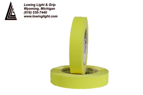"Paper Tape 1/2"" Fluorescent Yellow"