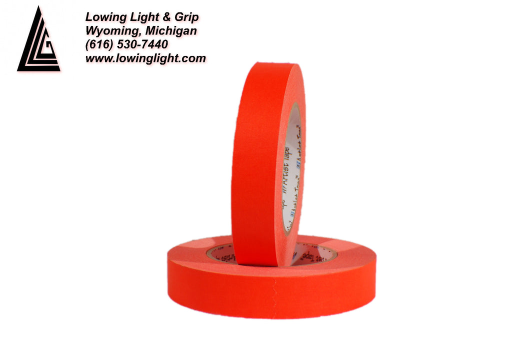 "Paper Tape 1"" Fluorescent Orange"