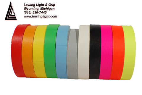 "Paper Tape 1"" Fluorescent Green"