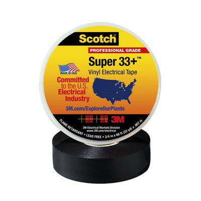 Scotch Professional Super 33+ Vinyl Electrical Tape Black