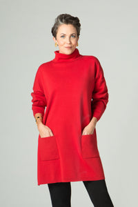 Turtleneck Tunic with Pockets