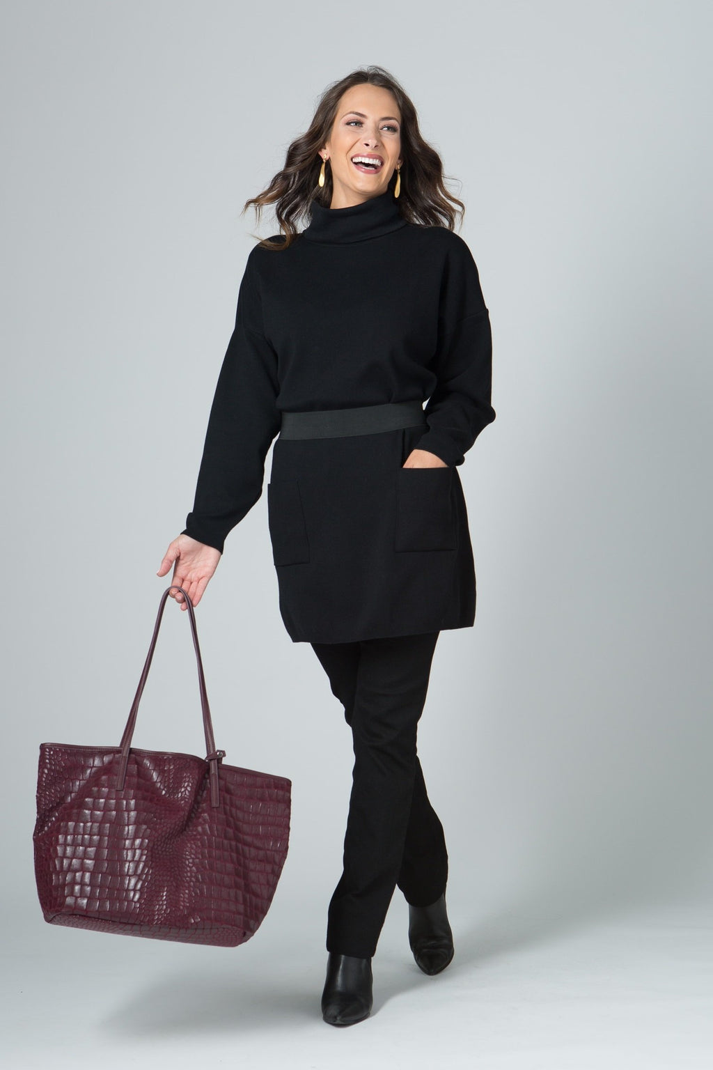 "33"" Turtleneck Tunic w/ Pockets"