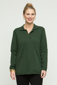 "27"" Long Sleeve Polo Top"