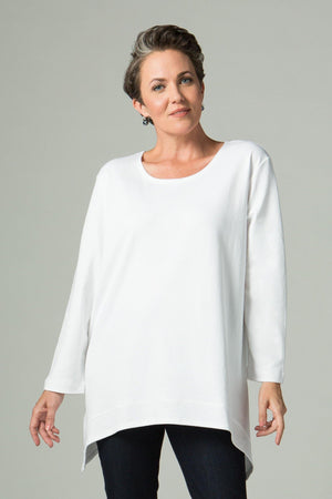 Long Sleeve T with Side Points - New Orleans Knitwear - Tops - Blouses