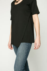 Short Sleeve Hi/Lo Pima Tunic