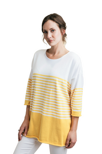 "25"" Square Stripe Top"