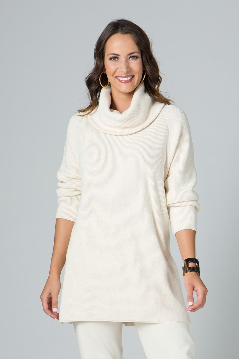 Oversized Cowl Neck Sweater Tunic - New Orleans Knitwear - Tops - Sweaters