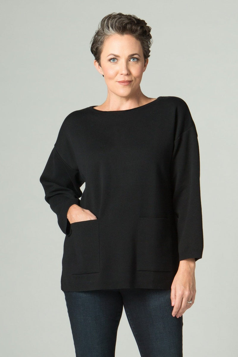 ¾ Sleeve 2 Pocket Top - New Orleans Knitwear