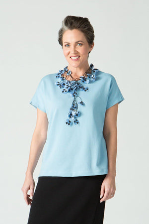 Cap Sleeve Square T - New Orleans Knitwear - Tops - Blouses