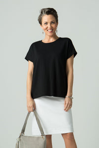 Cap Sleeve Square T