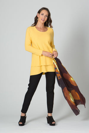 "29"" Long Sleeve Double Layer Sweater"