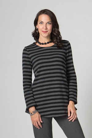 "29"" Long Sleeve Stripe Tunic"