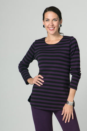 "29"" Long Sleeve Stripe Tunic - New Orleans Knitwear - Tops - Blouses"