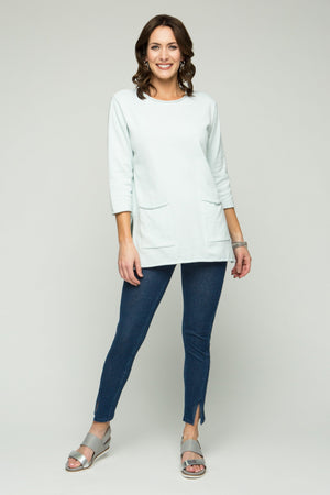 "26"" ¾ Sleeve Roll Neck 2 Pocket Tunic"