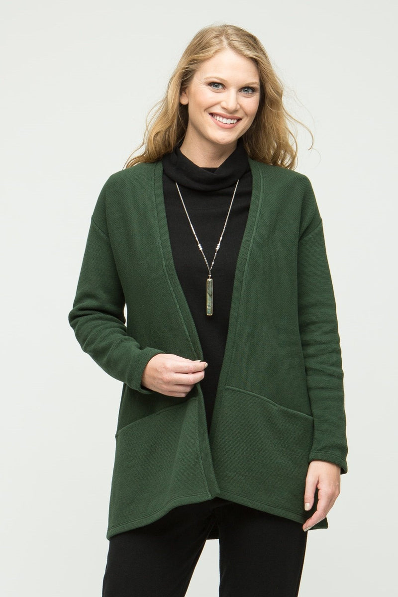 "31"" Long Sleeve Cardigan with Pockets"