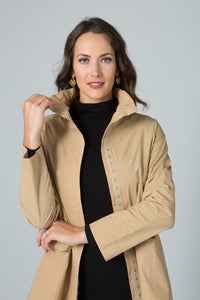 Snap Jacket with Wired Collar & Pockets - Amélline - Outerwear - Jackets