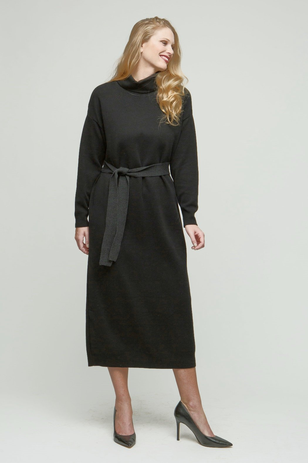 "50"" Long Sleeve Classic Turtleneck Dress"