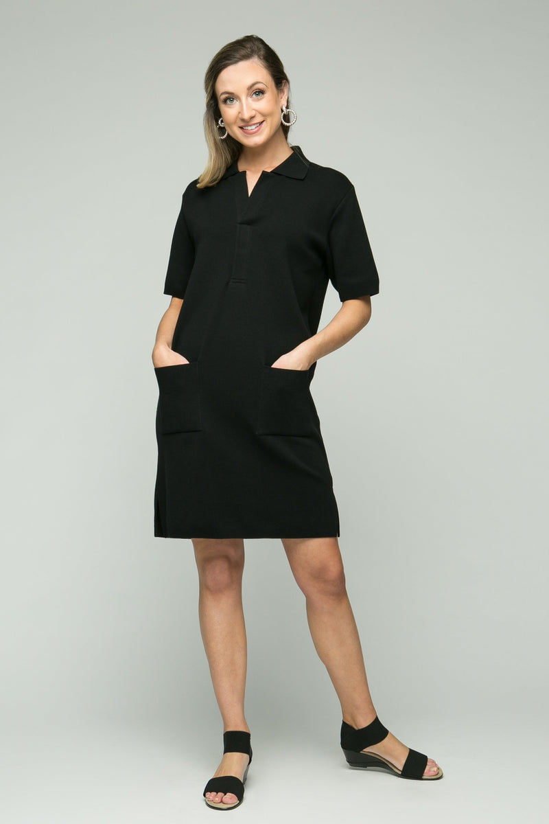 "38"" Short Sleeve Polo Dress with Pockets"