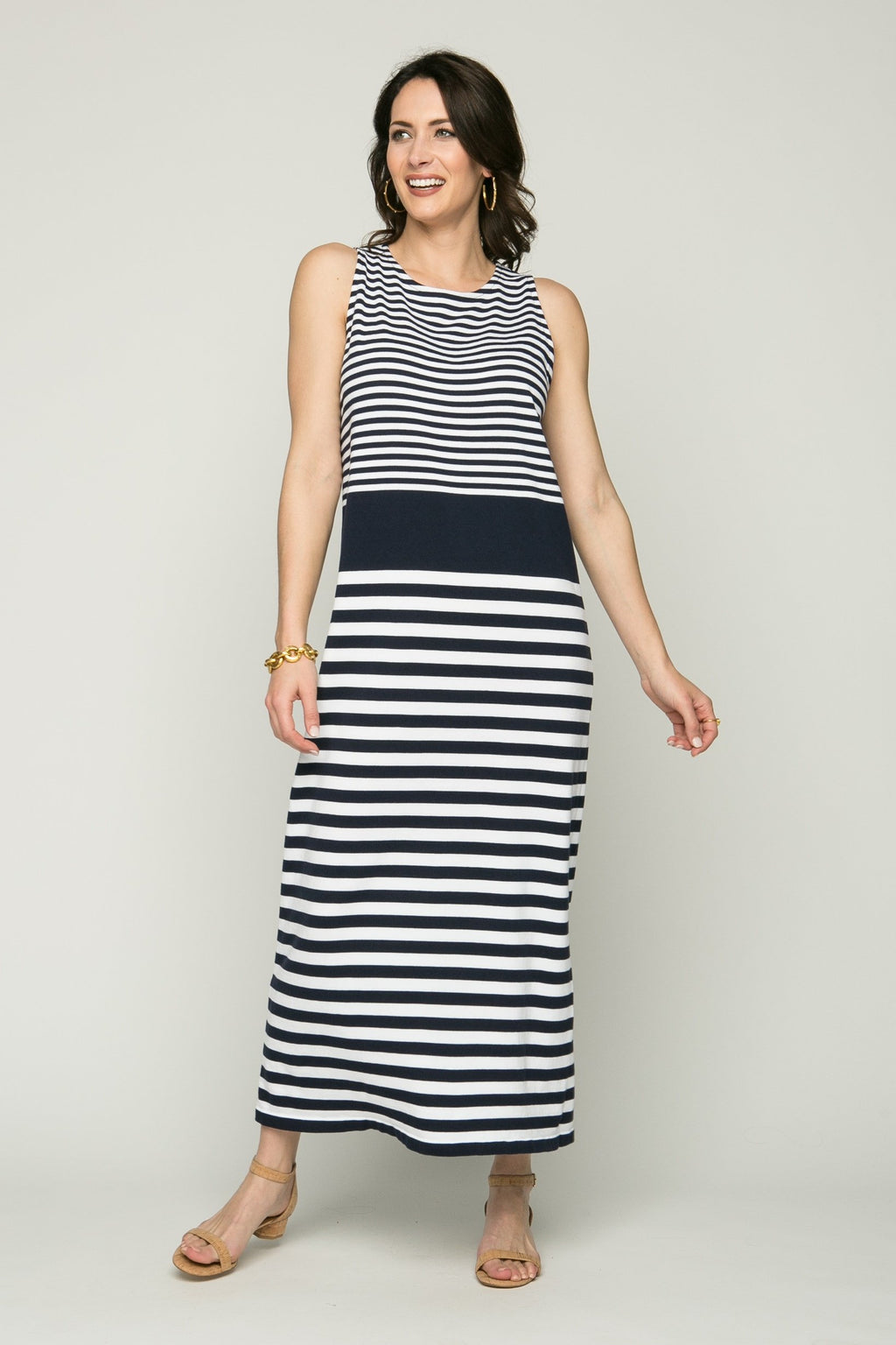 "48"" Sleeveless Stripe Dress"