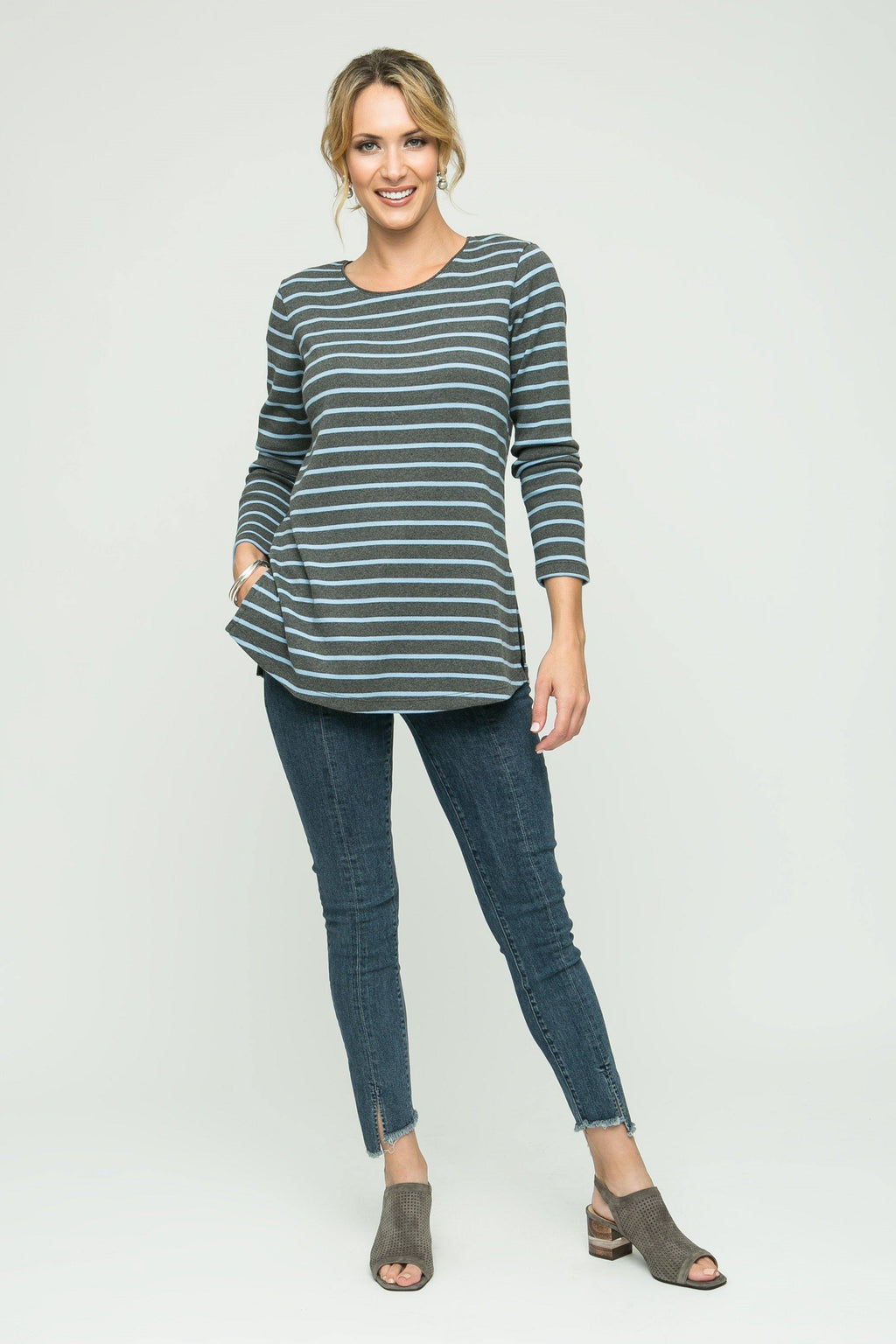 Stingray Skinny Jean with Front Slit - PARKER SMITH - Bottoms - Jeans