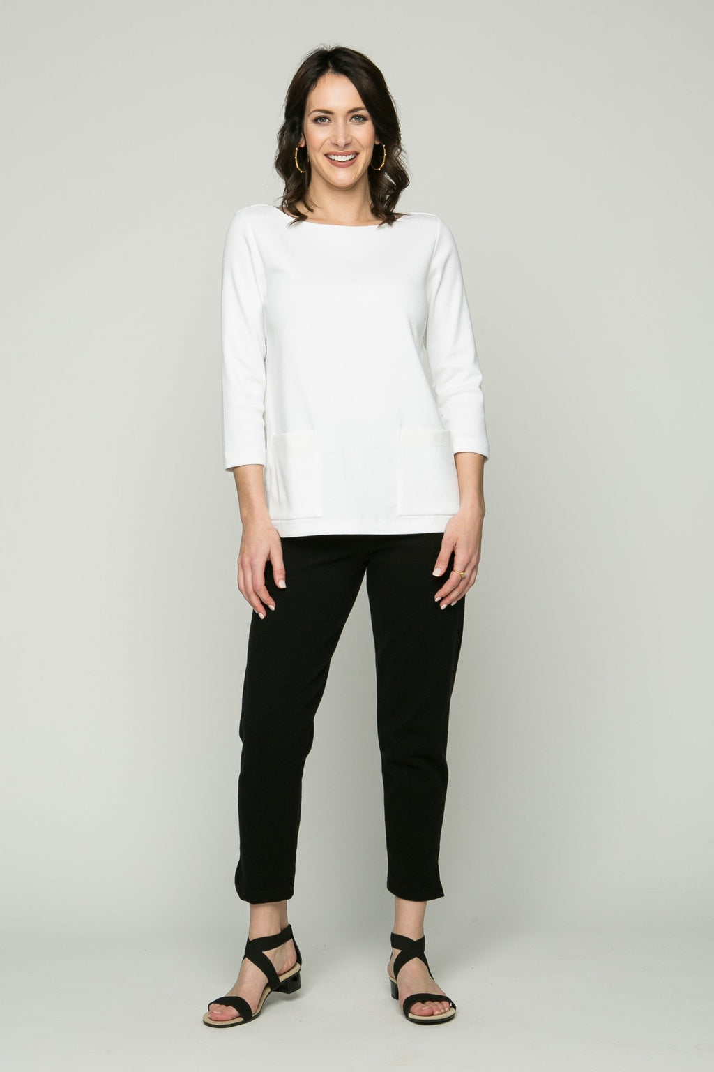 "36"" Cropped Skinny Pants with Slits - Ballin's LTD  &  New Orleans Knitwear"