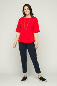 "36"" Cropped Skinny Pants with Slits"