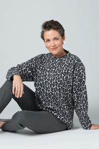 "26"" Long Sleeve Animal Print Sweater"