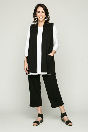 Sleeveless Pima Vest with Pockets