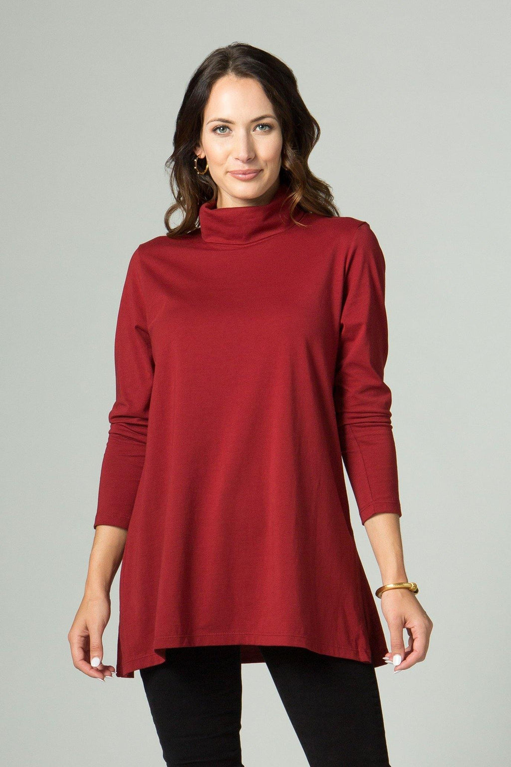 Long Sleeve Turtle Neck with Side Slits
