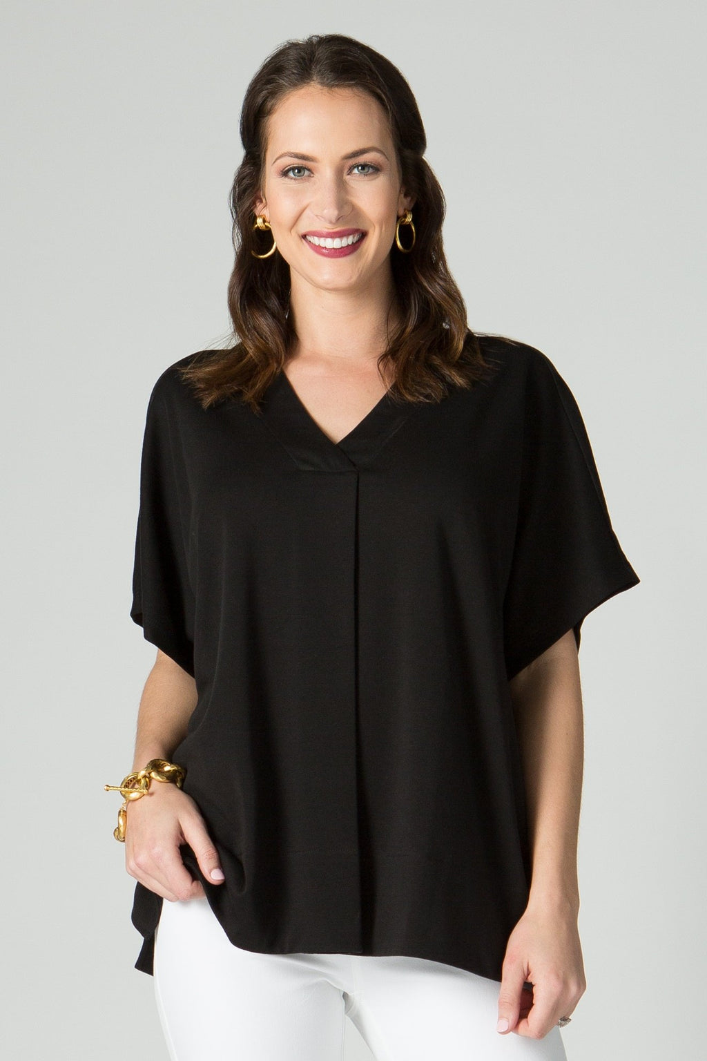 V Neck Oversize Square Top - New Orleans Knitwear
