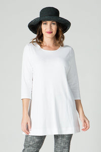 ¾ Sleeve Round Neck Tunic - Ballin's LTD  &  New Orleans Knitwear