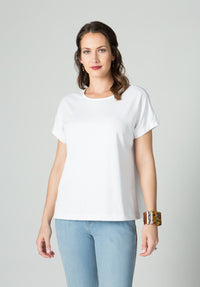 Pima Cap Sleeve Square T - New Orleans Knitwear - Tops - Blouses