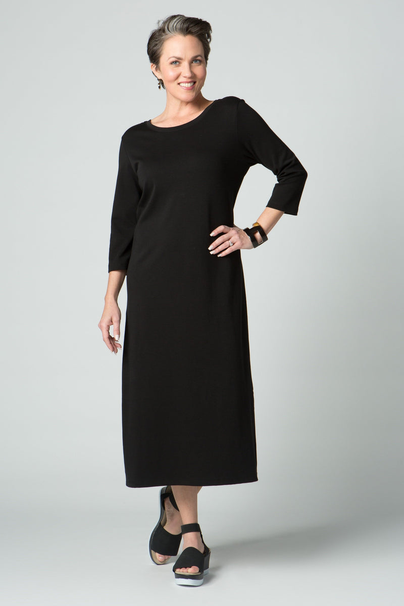 ¾ Sleeve Long Dress