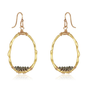 Gold Organic Bamboo Hoops