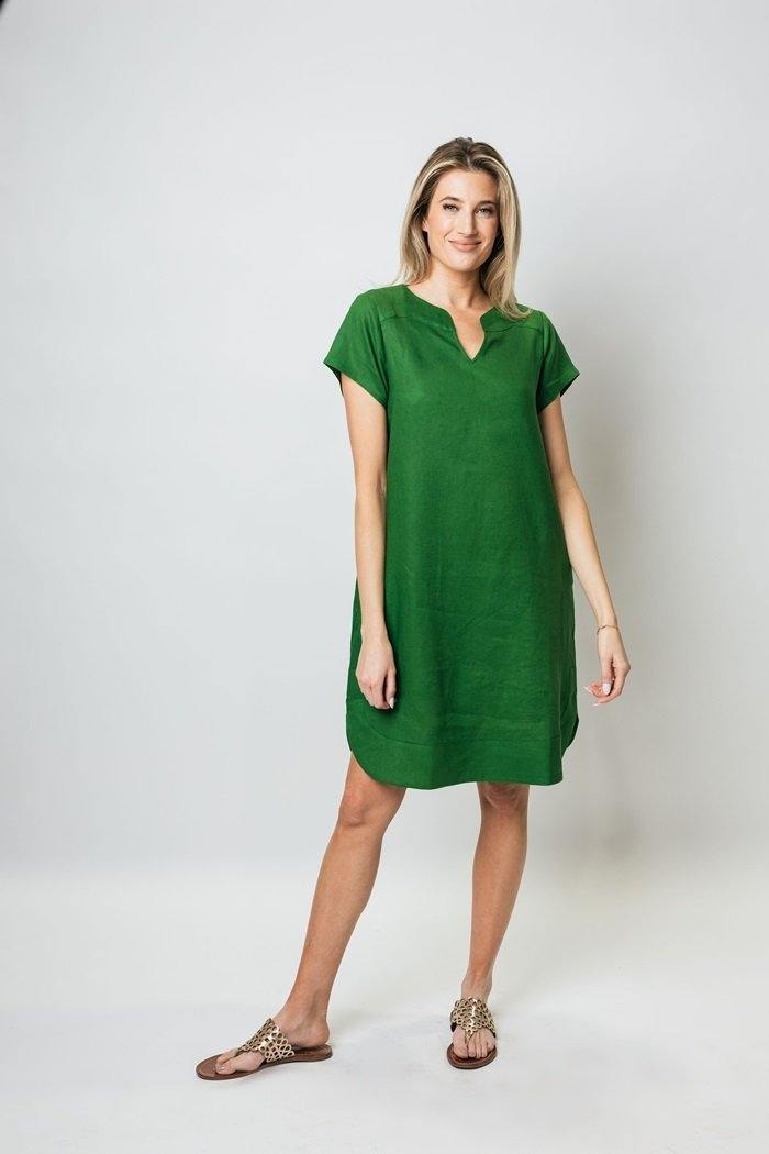 "38"" Short Sleeved Dress - Amélline - Dresses - Casual"