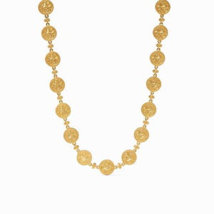 Julie Vos Coin Double Sided Necklace