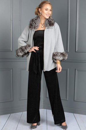 Zippered Cardigan - Dana Stein - Furs - Sweaters