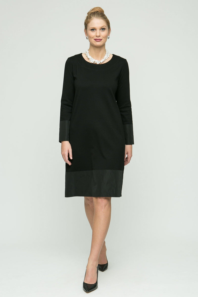 "38"" Long Sleeve Ponti Dress with Memory Light Detail"