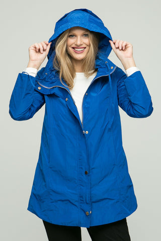 "31"" Long Sleeve Rain Jacket with Hood"