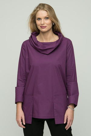 "28"" Signature Cowl Neck with Two Pockets - Amélline - Tops - Blouses"