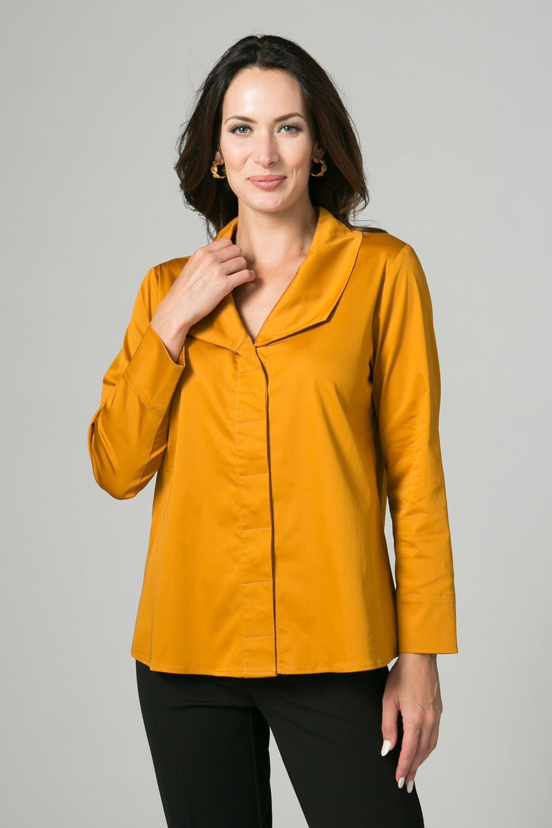 "25"" Button Front Blouse"