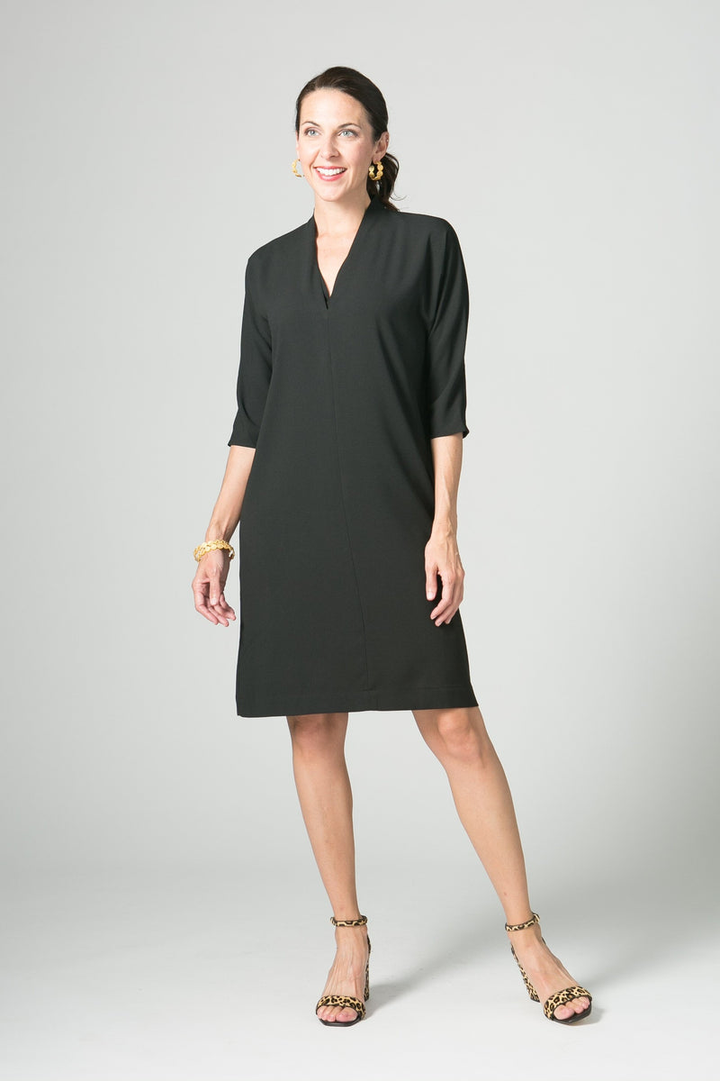"38"" V-Neck Dress with Pockets"