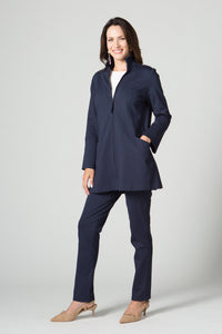 "31"" Zip Jacket with Ruched Collar and Pockets - Amélline - Outerwear - Jackets"