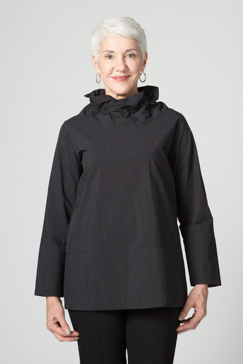 "26"" Cowl Neck Tunic with Wire Collar"